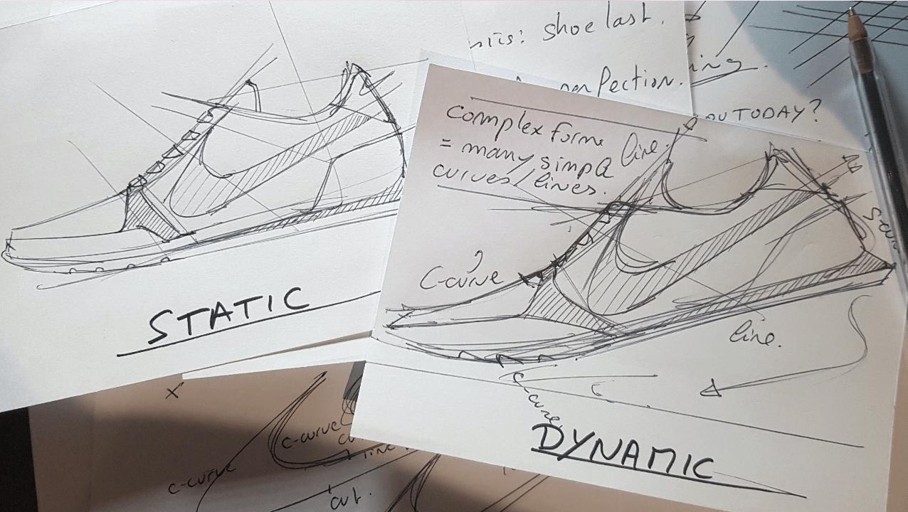 Draw your Sneaker design with a Dynamic style! with your ball point pen - The Design Sketchbook - Design sketching tutorial - Chung Chou-Tac b
