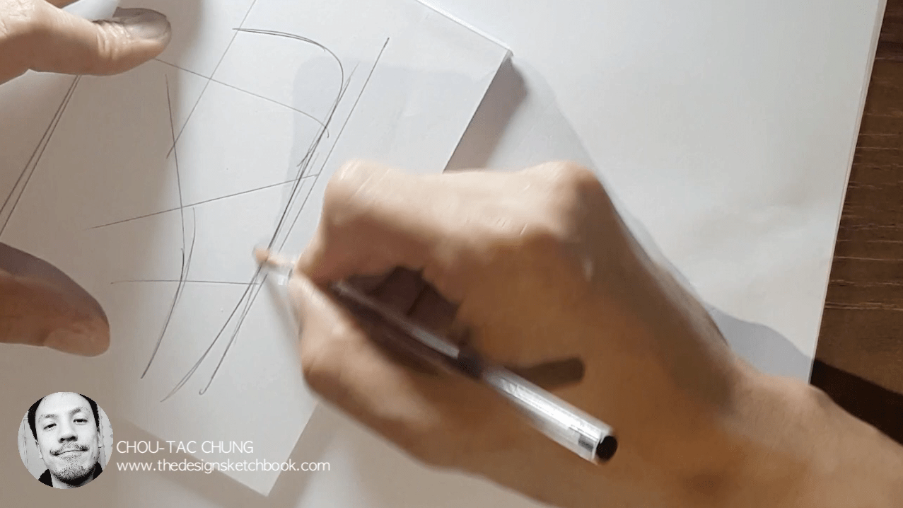Draw your Sneaker design with a Dynamic style! with your ball point pen - The Design Sketchbook - Design sketching tutorial - Chung Chou-Tac e