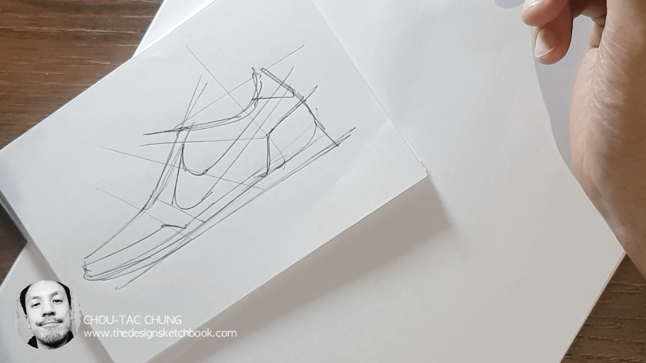 Draw your Sneaker design with a Dynamic style! with your ball point pen - The Design Sketchbook - Design sketching tutorial - Chung Chou-Tac k