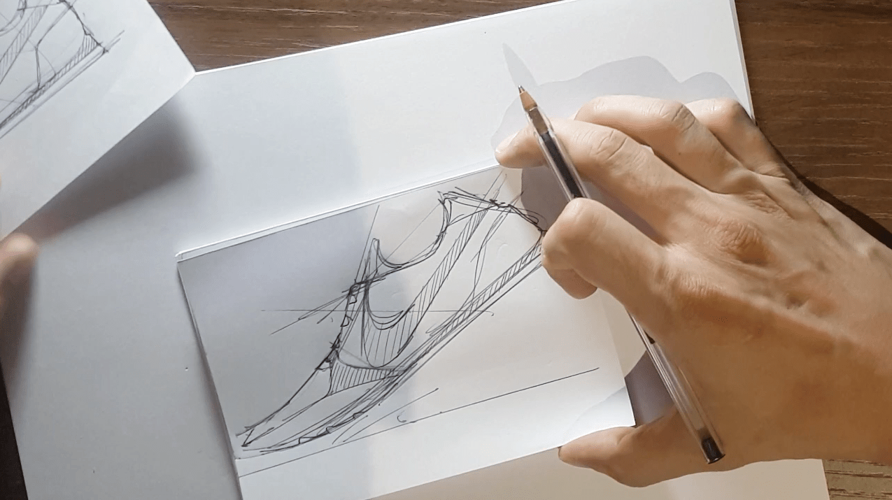 Draw your Sneaker design with a Dynamic style! with your ball point pen - The Design Sketchbook - Design sketching tutorial - Chung Chou-Tac n