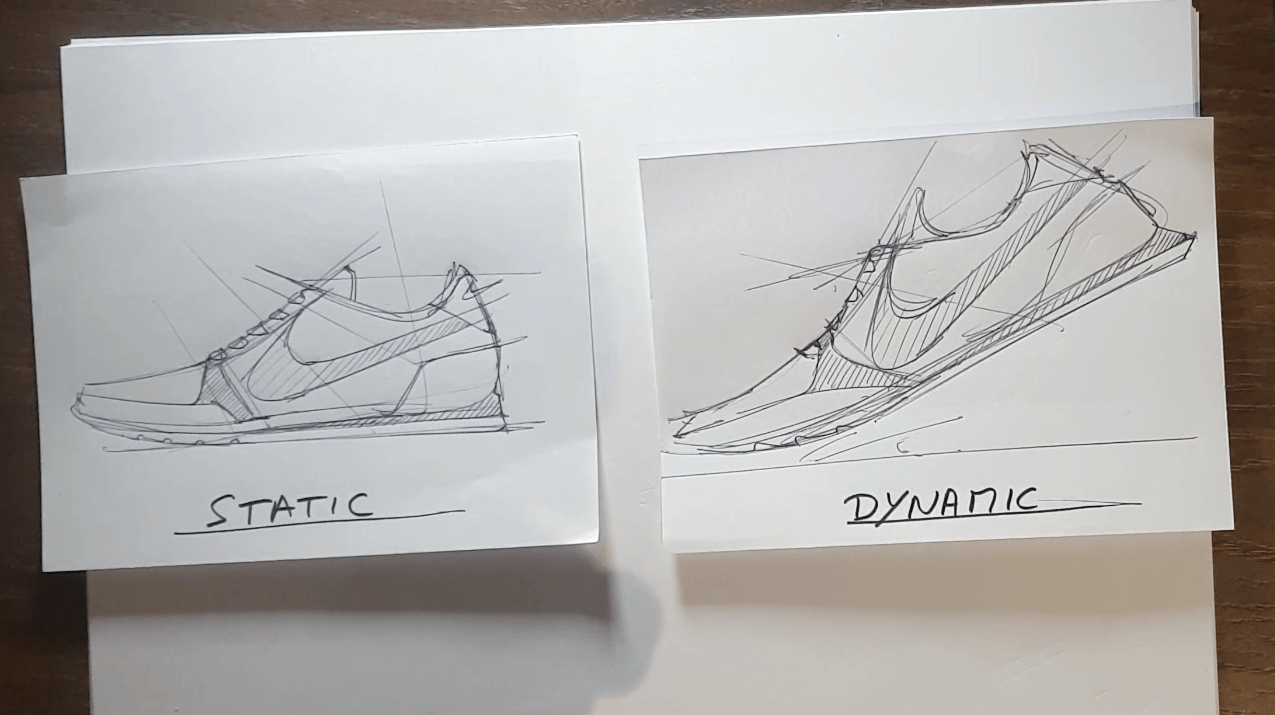 Draw your Sneaker design with a Dynamic style! with your ball point pen - The Design Sketchbook - Design sketching tutorial - Chung Chou-Tac o