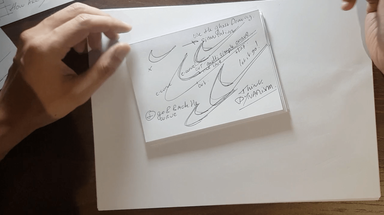 Draw your Sneaker design with a Dynamic style! with your ball point pen - The Design Sketchbook - Design sketching tutorial - Chung Chou-Tac s How to draw Nike logo