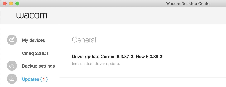 Wacom driver 6.3.38-3 update not working lag cintiq 22 hd