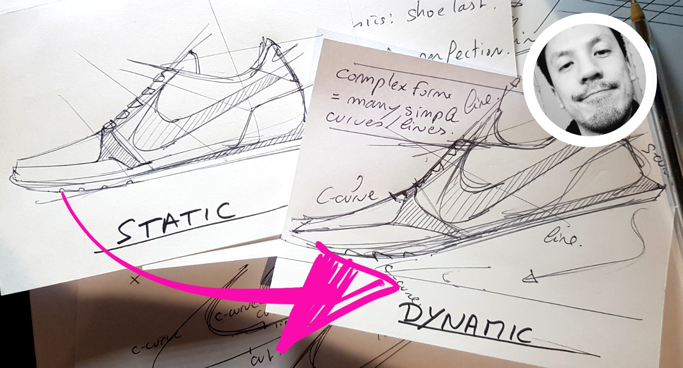 How to Draw Sneaker design with a Dynamic style! (with your ball point pen)