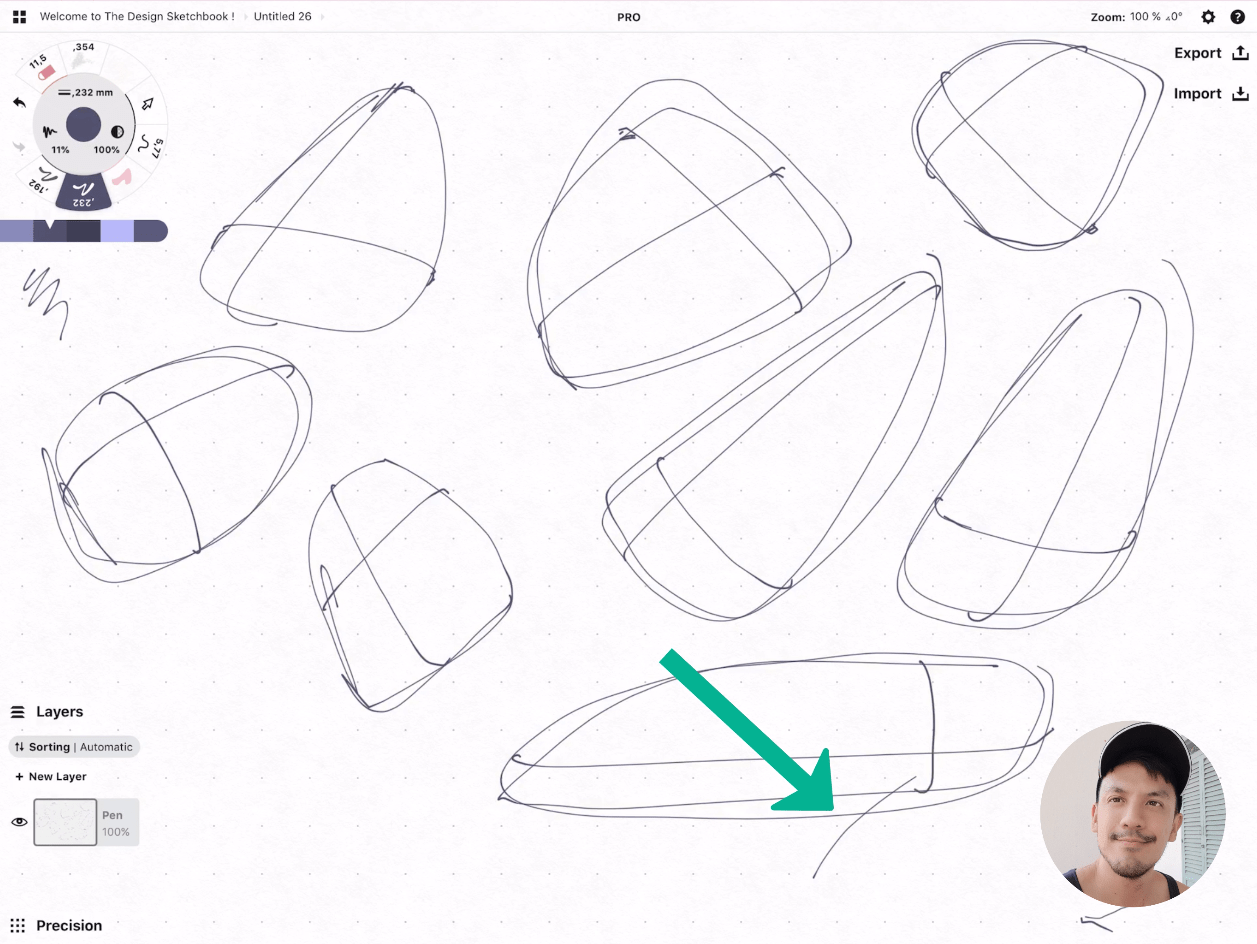 How to draw Creative random doodles of bags - Product design sketching - The Design Sketchbook Free video tutorial guide a10