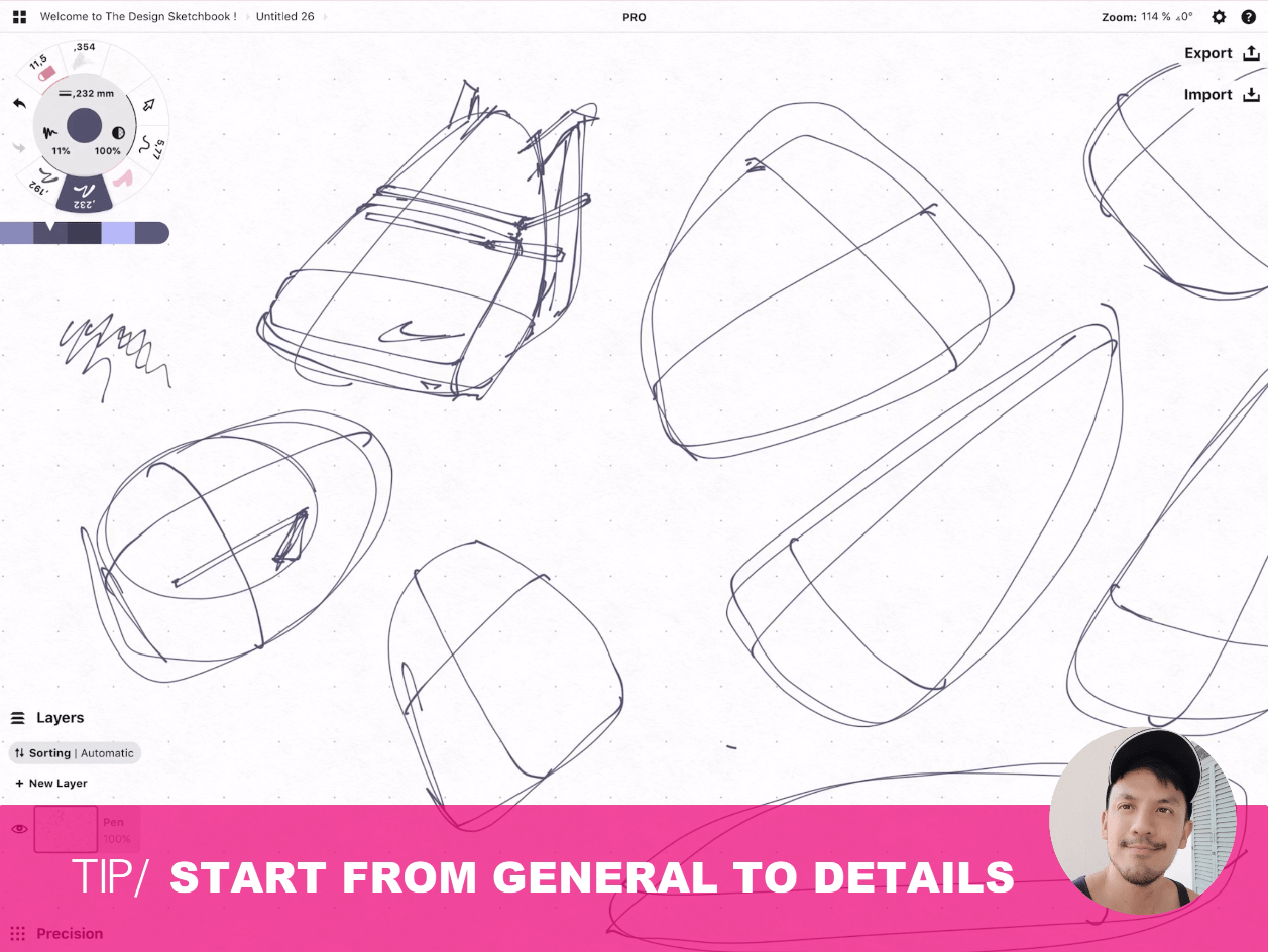 How to draw Creative random doodles of bags - Product design sketching - The Design Sketchbook Free video tutorial guide a14