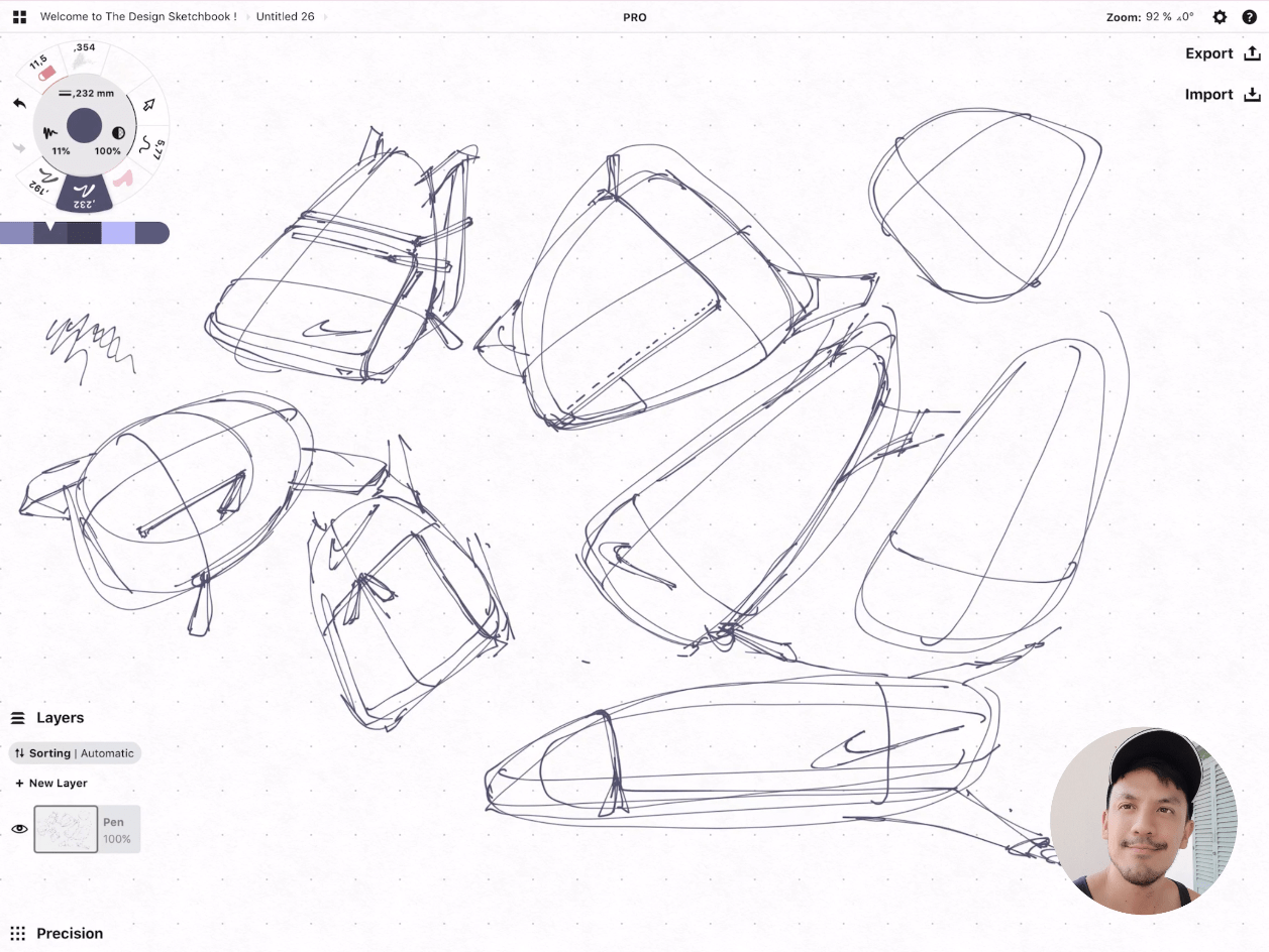How to draw Creative random doodles of bags - Product design sketching - The Design Sketchbook Free video tutorial guide a15