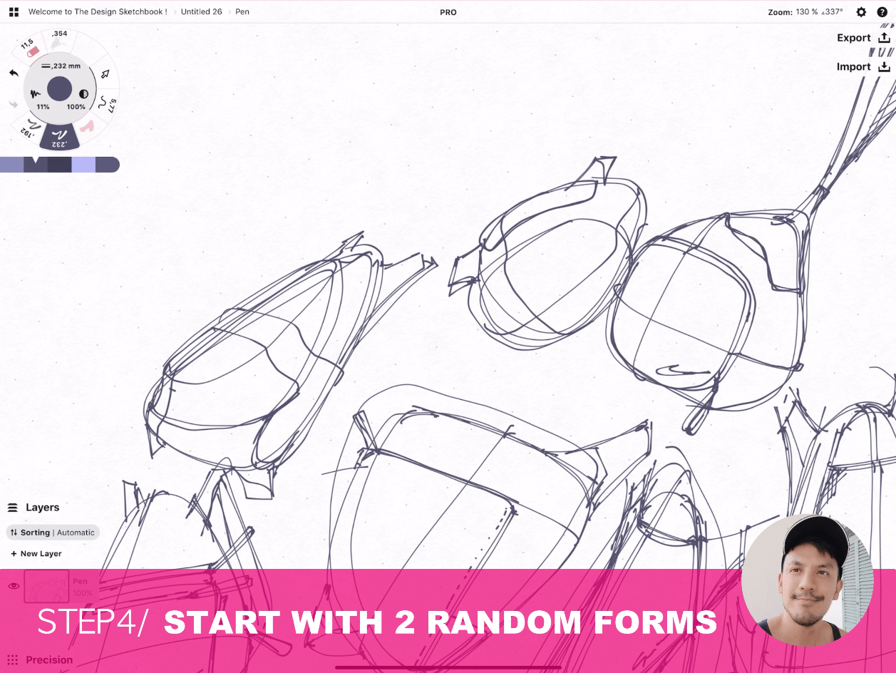How to draw Creative random doodles of bags - Product design sketching - The Design Sketchbook Free video tutorial guide a18