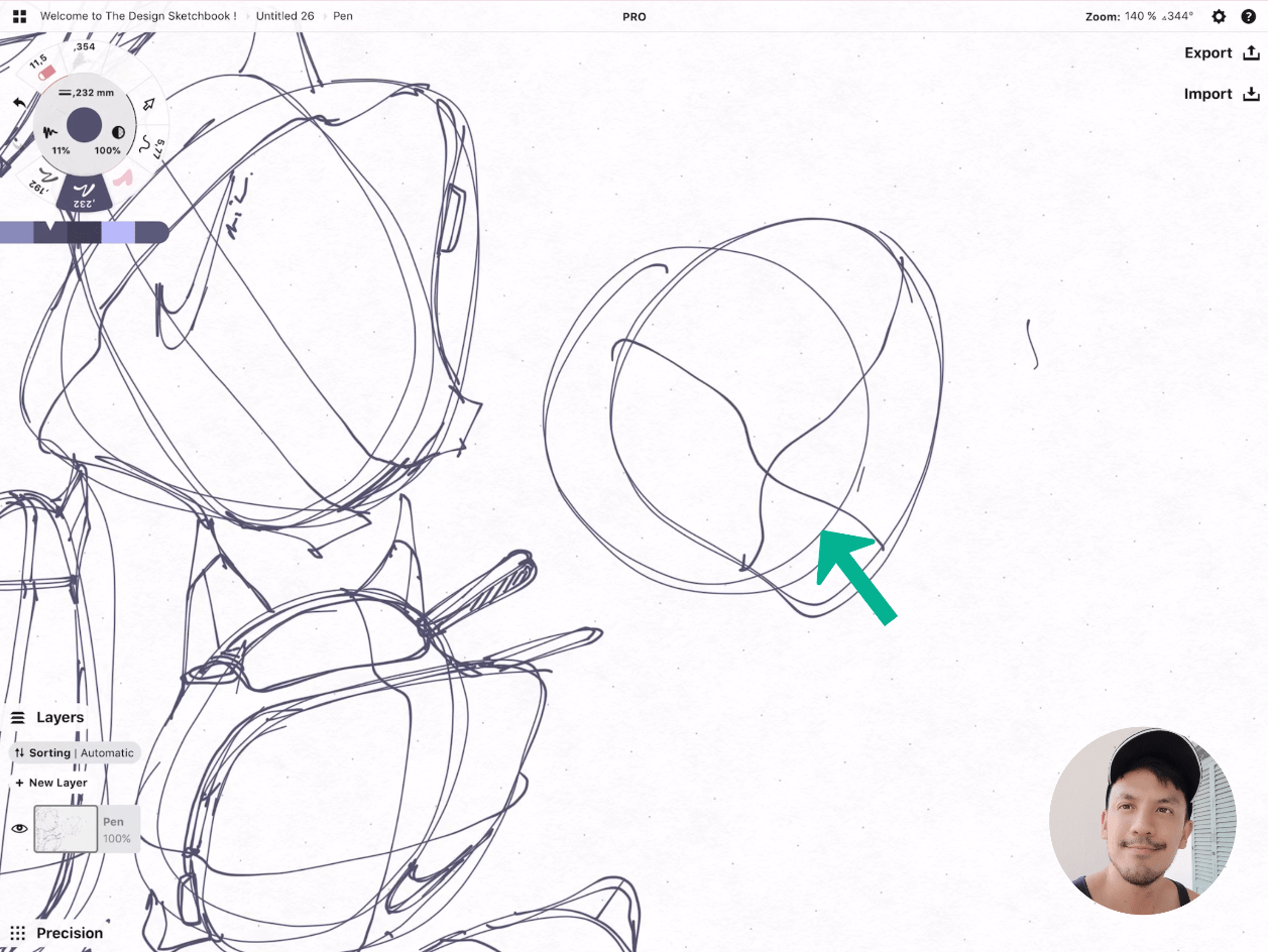 How to draw Creative random doodles of bags - Product design sketching - The Design Sketchbook Free video tutorial guide a37