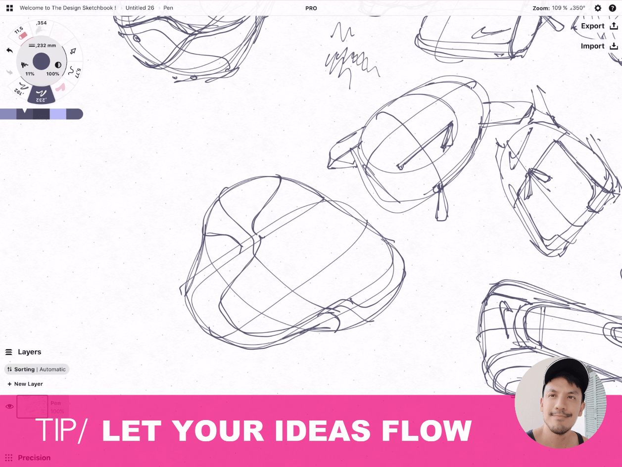 How to draw Creative random doodles of bags - Product design sketching - The Design Sketchbook Free video tutorial guide a39