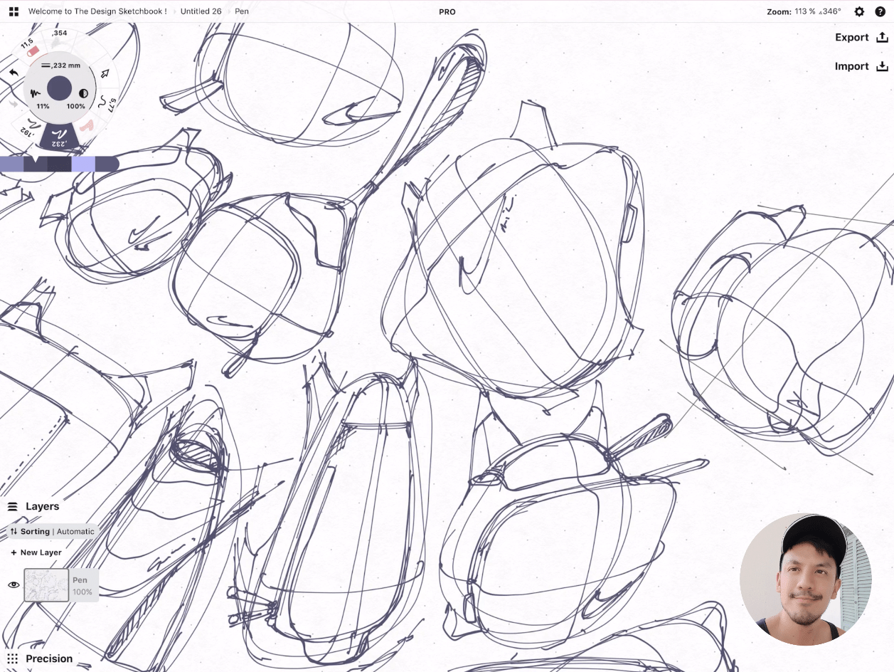 How to draw Creative random doodles of bags - Product design sketching - The Design Sketchbook Free video tutorial guide a44