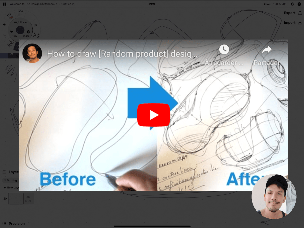 How to draw Creative random doodles of bags - Product design sketching - The Design Sketchbook Free video tutorial guide a8 The random product technique video tutorial