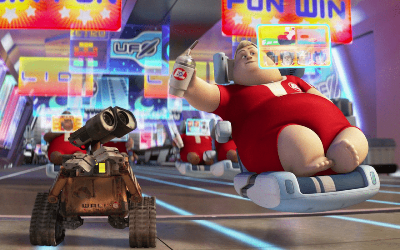 wall e watching screens all time