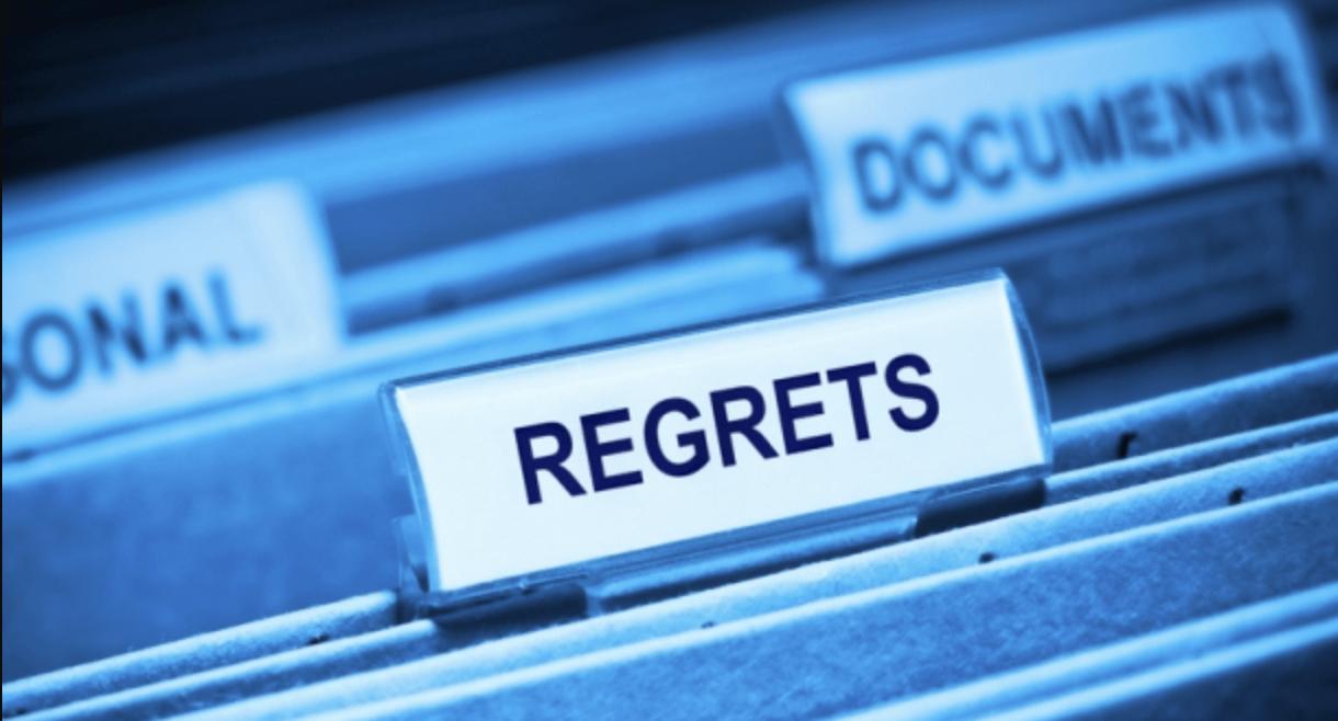 Regrets folder